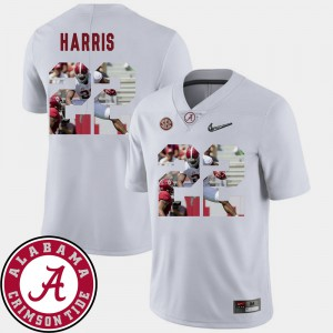 University of Alabama #22 Mens Najee Harris Jersey White Football Pictorial Fashion Official 231400-625