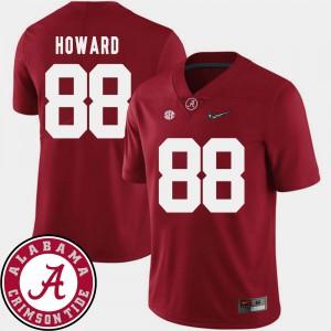 Alabama #88 Mens O.J. Howard Jersey Crimson Stitched College Football 2018 SEC Patch 827685-964