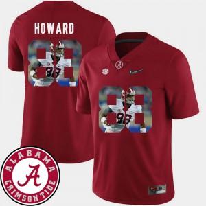 Alabama #88 Men O.J. Howard Jersey Crimson NCAA Football Pictorial Fashion 219729-922