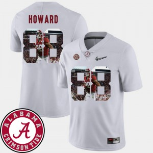 Roll Tide #88 For Men O.J. Howard Jersey White Embroidery Football Pictorial Fashion 494586-420