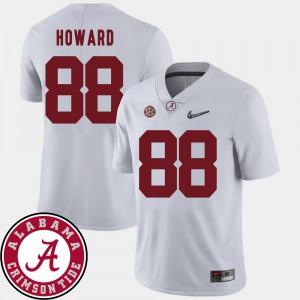 Alabama #88 For Men's O.J. Howard Jersey White Alumni College Football 2018 SEC Patch 975625-675