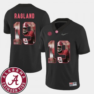 Roll Tide #19 Men Reggie Ragland Jersey Black Football Pictorial Fashion Stitched 577385-444