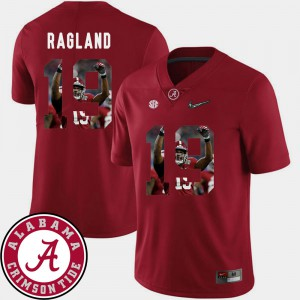 Bama #19 For Men's Reggie Ragland Jersey Crimson Embroidery Football Pictorial Fashion 213072-513