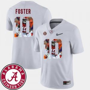 University of Alabama #10 Mens Reuben Foster Jersey White Stitch Pictorial Fashion Football 228603-499