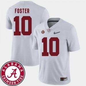 University of Alabama #10 Men's Reuben Foster Jersey White College College Football 2018 SEC Patch 757319-731