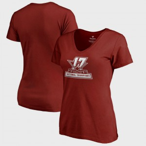 Roll Tide Womens T-Shirt Crimson Player Bowl Game College Football Playoff 2017 National Champions Official Icon 520758-339
