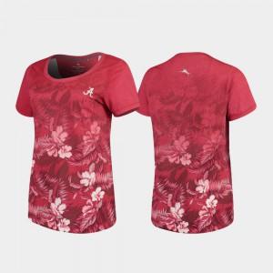 Bama Womens T-Shirt Crimson Stitch Floral Victory Tommy Bahama 835268-233
