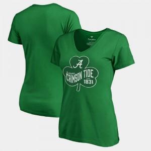 Bama Women's T-Shirt Kelly Green Paddy's Pride Fanatics St. Patrick's Day Alumni 985977-308