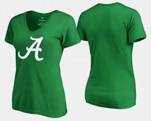 Bama For Women's T-Shirt Kelly Green Player St. Patrick's Day White Logo 789875-689