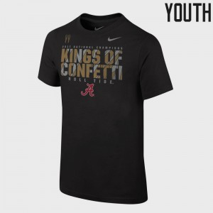 University of Alabama For Kids T-Shirt Black College Bowl Game College Football Playoff 2017 National Champions Locker Room 283039-787