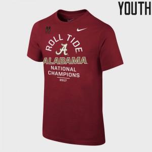 Alabama Crimson Tide For Kids T-Shirt Crimson College Football Playoff 2017 National Champions Celebration Bowl Game College 313306-234