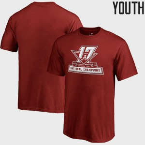 Alabama Youth T-Shirt Crimson College Football Playoff 2017 National Champions Official Icon Bowl Game NCAA 889208-972