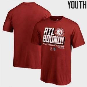 Alabama Youth(Kids) T-Shirt Crimson College Bowl Game College Football Playoff 2018 Sugar Bowl Champions Flea Flicker 657419-640