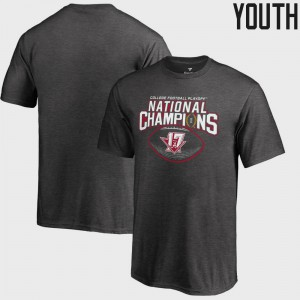 Roll Tide Youth T-Shirt Heather Gray College Football Playoff 2017 National Champions Pick Six Bowl Game College 556350-329