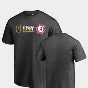 Roll Tide Youth(Kids) T-Shirt Heather Gray Player Cadence 2018 College Football Playoff Bound 297529-830