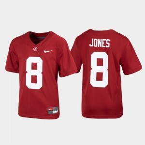 Alabama Crimson Tide #8 Kids Julio Jones Jersey Crimson Alumni Football Replica Stitch 598714-539