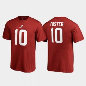 Bama #10 Youth(Kids) Reuben Foster T-Shirt Crimson Stitch Name & Number College Legends 654340-305